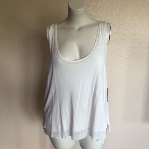 Free People Overlay Tank Top Size L New